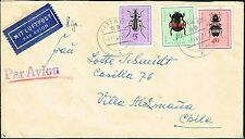 2559 GERMANY SOVIET ZONE TO CHILE COVER 1968 INSECTS ZITTAU - VILLA ALEMANA