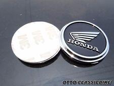 Honda HM Logo Wings Tank Emblem Cafe Racer Bobber Universal Custom Black A pair