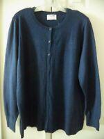 Old Navy Must Have Navy Blue Dark Blue Lt Weight Cardigan Sweater XXL 3X 2X 4X