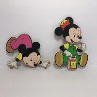 "Vintage Walt Disney Morty Ferdie Mouse Cardboard Pin Up Wall Decor Dolly Toy 8"""
