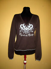 ESPRIT Top Size M Brown With Beautiful Beaded  Front Logo Detail