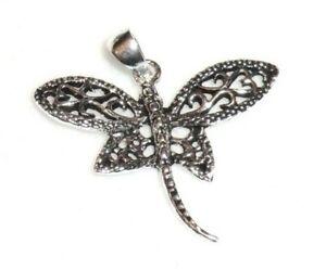 Libelle Anhänger 925 Sterling Silber filigran Neu Dragonfly Pendant