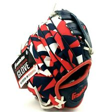 "Franklin Youth Tee Ball Fielding Glove Right Hand Throw Red White Blue 8"" 0579"