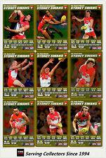 2007 AFL Teamcoach Trading Card Gold Team Set Sydney (13)