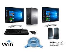 Dell Desktop Computer PC Core 2 Duo 3.0Ghz 8GB RAM 1TB Windows 10 WIFI 2 Monitor