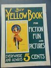 c1897 - WOMAN ON BICYCLE POSTER - YELLOW BOOK  PUBLISHERS' AD by SYDNEY ADAMSON