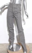 6e21a37329b9 ... BALENCIAGA Womens Gray Black Striped Button-Fly Straight-Leg Pants 6-38  presenting ...