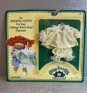 Vintage 1984 Cabbage Patch Kids PLAYMATE Mini Doll Outfit NEW Yellow Dress 3942