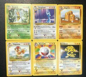 Base Set Non Holo Rare Pokemon Cards, Pick Your Card! All Available! Dragonair!
