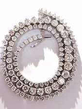 20.00ct natural round brilliant diamonds tennis necklace 14kt classic Riviera