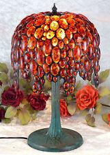 Luxus Bernsteinlampe Tischlampe Edelstein Lampe Bernstein Leuchte Tiffany Amber