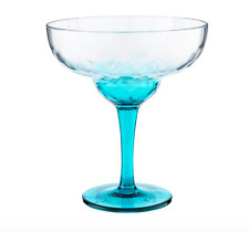 Acrylic Margarita Glass Turquoise Summer BBQ Picnic Outdoor Strong (2 Pack)