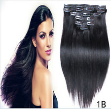"7pcs set 15"" 18"" 20"" 22"" Clip In Remy Real 100% Human Hair Extensions Full Head"