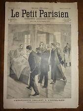 PETIT PARISIEN - 1893 N° 255 anarchiste VAILLANT à l'hotel-dieu PARIS