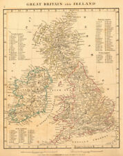GREAT BRITAIN & IRELAND. British Isles. Roman Roads. ARROWSMITH 1828 old map