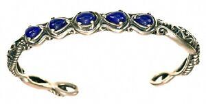 Carolyn Pollack Blue Lapis gemstone Sterling Silver Small Cuff Bracelet
