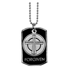 FORGIVEN Cross Dog Tag Necklace Christian Witness Gear