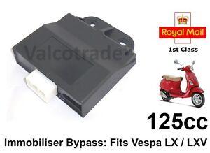 CDI Bypass Immobiliser Unità Per Piaggio Vespa LX125 LX4 Lxv S 125cc LX 125