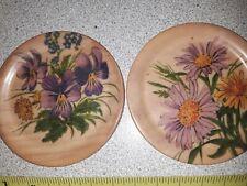 New listing Vintage Platex Wood Round Swiss Made Rouge Ste-Croix tea plates