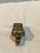 Heavy Brass Lion's Paw Furniture Caster; Empire Style, Set of 6