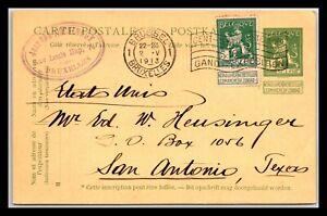 GP GOLDPATH: BELGIUM POSTAL CARD 1913 _CV674_P11