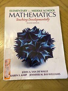 Elementary and Middle School Mathematics: Teaching Developmentally 8th Edition