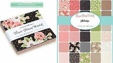 "Olives Flower Market Lella Boutique Charm Pack 5"" Squares Moda Quilting Cotton"