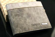 Cool Men's Wallet Bifold Leather Credit/ID Card Holder Wallet Slim Purse Bag