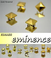 EIMASS® Gold Claw Studs,Rivets,Pyramid,Spike Cone, Star,Shoe,Bags,Leather,Craft