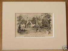COWPER BERKHAMPSTEAD ANTIQUE MOUNTED ENGRAVING c1890