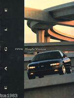 Lrg. 1994 Jeep EAGLE VISION Catalog / Brochure w/Color Chart, '94