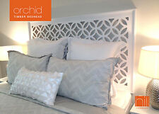 ORCHID Timber Bedhead / Headboard for Double Ensemble - WHITE
