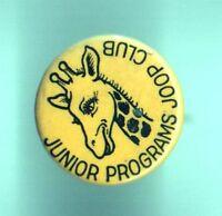 old pin Junior Program JOOP Club GIRAFFE button pinback