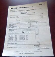 Coleco parts order form  laminated   1970-80