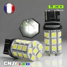 2 AMPOULES CNJY 27 LED SMD CULOT T20 W21/5W 7443 3157 BLANC HID XENON AUTO 12V