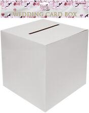 Plain White 30cm Square Wedding Card Post Box - Wishing Well Mailbox Greeting UK