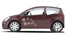 18X Kit De Pared De Coche De Navidad Copo De Nieve Vinilo Autoadhesivo Con Ventana Cuerpo Parachoques
