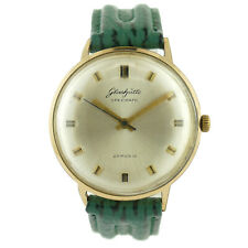 GLASHUTTE SPEZIMATIC AUTOMATIC 26 RUBIES GOLD PLATED MENS WATCH ON STRAP