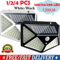 100/208LED Solar Power Light PIR Motion Sensor Outdoor Garden Security Wall Lamp