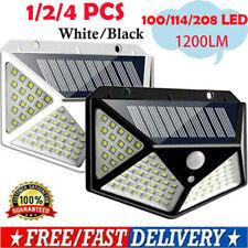 100/114LED Solar Power Light PIR Motion Sensor Outdoor Garden Security Wall Lamp