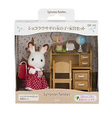 Figure Sylvanian families Chocolate rabbit girls furniture set F/S SB