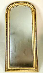 Vergoldeter Spiegel, Frankreich 19. Jhd. Patina