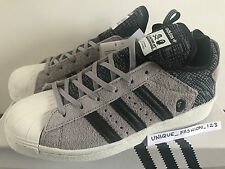 ADIDAS SUPERSTAR BOOST BATHING APE NEIGHBORHOOD UK 6.5 US 7 40 BAPE NH 80 GREY