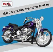 1:18 Maisto Harley Davidson 2001 FXSTS Springer Softail Bike Motorcycle Purple