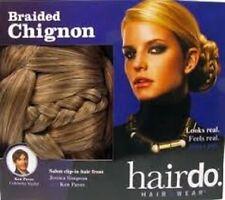 Jessica Simpson Hairdo Braided Chignon Clip in on Bun Hair Dark Blonde
