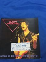 GARY MOORE Japan tour book & ticket stub 1984 Thin lzzy