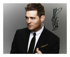 MICHAEL BUBLE SIGNED AUTOGRAPHED A4 PP PHOTO POSTER