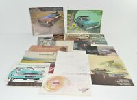 Lot of 14 1950s-1970s Car Brochures Ford Cadillac Imperial Vauxhall Simca Dodge