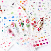 Latest 24 Sheets Nail Art Stickers Watercolor Water Transfer Decals Flowers Tips