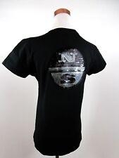 North Vela Negro para Mujeres De Algodón Manga Corta Casual Camiseta de adornar Talla M BE34
